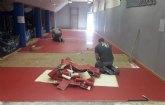 Sustituyen el pavimento sint�tico de la Sala de Tenis de Mesa del Pabell�n de Deportes Manolo Ib�ñez