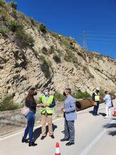 Fomento invierte más de 454.000 euros en la protección de los taludes de la carretera del Salto de la Novia en Ojós