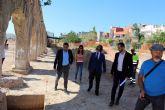 Las obras del entorno del Museo de la Huerta, con las excavaciones del Acueducto de la Noria , reciben la visita del consejero de Presidencia en funciones, Pedro Rivera