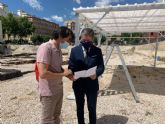 Cuatro pérgolas de 32 metros cuadrados protegerán las excavaciones del yacimiento de San Esteban