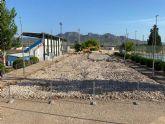 Comienzan las obras de reconstrucción de las pistas de tenis del Polideportivo La Hoya