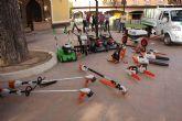 Nuevos vehículos y herramientas eléctricas para el cuidado de parques y jardines