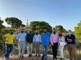 VOX Totana recibe la visita de Antelo, presidente provincial, acompañado del concejal Javier Clemente S�nchez y varios miembros del partido
