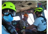 Rescatan a senderista en Senda de Fatares, Monte Roldan