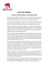 Valoraci�n del Pleno Ordinario del 30 de junio de 2020. IU-verdes Alhama de Murcia