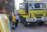 El alcalde conoce de primera mano los trabajos de prevención que realizan las brigadas forestales en Sierra Espuña