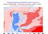 Protecci�n Civil Totana informa que la pr�xima semana ser� muy calurosa en la Regi�n de Murcia