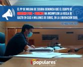 El PP denuncia que el equipo de gobierno PSOE-Podemos ha incumplido la regla de gasto en casi 4 millones de euros, en la liquidación 2019