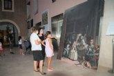 Velázquez, Goya, El Bosco y Sorolla en los exteriores de la biblioteca municipal