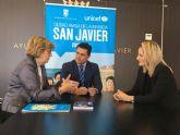 El Ayuntamiento de San Javier y Unicef se comprometen a seguir trabajando juntos en favor de la infancia y la adolescencia