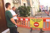 Las obras de renovaci�n del tramo de red de saneamiento y abastecimiento de la calle San Ram�n se prolongar�n durante los pr�ximos dos meses