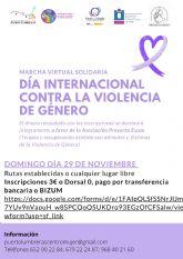 El Ayuntamiento organiza una marcha virtual solidaria el 29 de noviembre por el Día Internacional contra la Violencia de Género