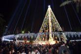 Los vídeos del encendido de la Navidad en Murcia superan más de 191.000 impresiones en redes sociales en menos de 24 horas