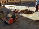 Obras de mejora de abastecimiento en las calles Isaac Alb�niz y Narciso Yepes
