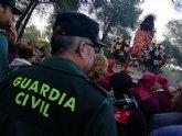 Más de 50 efectivos integran el dispositivo de seguridad de la romería de regreso de La Santa de Totana este lunes 7 de enero