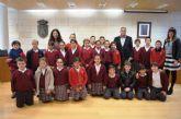 Alumnos de Educación Primaria del colegio Reina Sofía abren el programa Conoce tu ayuntamiento