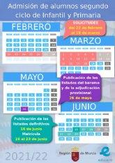Apertura del plazo de matr�cula en los colegios e institutos de Alhama para el curso 2021-2022. Del 22 de febrero al 18 de marzo