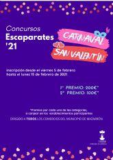 Abierto el plazo de inscripción para los concursos de escaparates de Carnaval y San Valentín