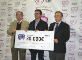 La empresa de agua mineral natural AQUADEUS dona 30.000 euros a la Federación Española de Enfermedades Raras para proyectos de investigación