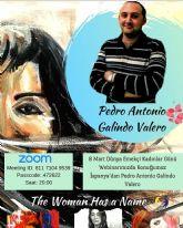 El artista y docente Pedro Antonio Galindo Valero en el proyecto educativo 'La Mujer Tiene un Nombre' (The Woman Has a Name)