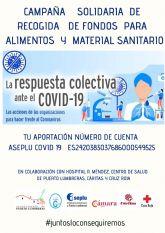 El Ayuntamiento de Puerto Lumbreras junto a ASEPLU y la Cámara de Comercio impulsa una campaña solidaria de recogida de fondos para la compra de material sanitario y alimentos
