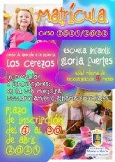 Apertura del plazo de matrícula 2021-2022 para la escuela infantil Gloria Fuertes y CAI Los Cerezos