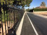 Finalizan las obras de reparaci�n de la carretera C-7 de La Huerta a la altura de la Cruz de la Misi�n