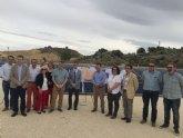 Las obras de mejora de la Comunidad de Regantes de Pliego mejorarán el transporte, distribución y almacenamiento del agua