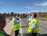 Refuerzan la seguridad de la carretera regional que une los municipios de Molina de Segura y Fortuna