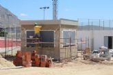 Las obras de construcción de un quiosco permanente en el Polideportivo La Hoya finalizan la próxima semana