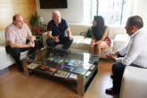 El alcalde y la concejal de Deportes se reúnen con miembros de la Junta Directiva del Olímpico de Totana