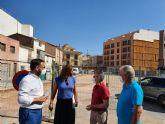 El Ayuntamiento de Lorca inicia los trabajos de renovación urbana en el parque de la Plaza Fray Pedro Soler para continuar con la rehabilitación del barrio de San Cristóbal