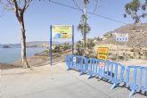 Técnicos municipales evalúan daños que remitirán a Costas para que vuelvan a habilitar el paso en el camino de las calas