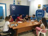 Reunión de NNGG Abanilla, NNGG Beniel y NNGG Santomera en el la sede del Partido Popular de Abanilla