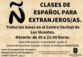 El centro vecinal de Los Vicentes acogerá clases de español gratuitas para personas extranjeras
