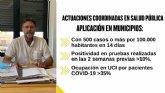 Saorín informa sobre las actuaciones coordinadas para controlar las infecciones por la covid-19