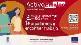 El Ayuntamiento de Molina de Segura pone en marcha ACTIVAEMPLEO, un Servicio de Integración, Orientación y Dinamización Sociolaboral para Jóvenes en barrios desfavorecidos de Molina de Segura