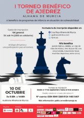 Inscríbete en el I Torneo Benéfico de Ajedrez que organiza Cruz Roja
