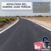 Pedro J. S�nchez (Ganar Totana): El asfaltado del Camino Juan Teresa es un ejemplo m�s de nuestro compromiso con mejorar los servicios de las pedan�as de Totana