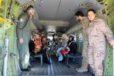 Un año más SS.MM. los Reyes Magos llegaron por el aire a Alcantarilla, a la Base Aérea