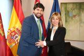 El presidente Fernando López Miras recibe a la alcaldesa de Campos del Río