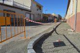 El POS trabaja ya en la renovación de aceras y el refuerzo de aceras en varias calles del municipio