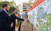 El Ayuntamiento inicia la conexión de cuatro emblemáticos jardines de Murcia para crear un eje verde de 70.000 m2