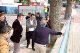 El Alcalde Andrés Luna y el Director del Agua visitan las obras de remodelación y arreglos de la avenida Mario Spreáfico