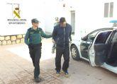 La Guardia Civil localiza y detiene en Totana a un peligroso delincuente reclamado por la Justicia