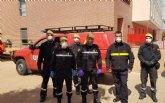 T�cnicos de Protecci�n Civil en Totana participan en una jornada formativa sobre desinfecci�n de interiores y exteriores, impartida por la UME