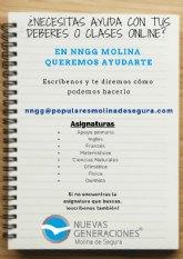 NNGG de Molina inicia voluntariado para ayudar en clases y deberes