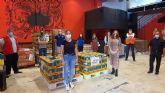 El Banco de Alimentos municipal recibe su primera donación procedente de empresas y colectas benéficas de asociaciones deportivas