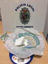 La Policía Local de Puerto Lumbreras detiene a una mujer que portaba 104 gramos de cocaína