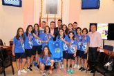 El alcalde recibe a las subcampeonas de España de fútbol sala, el equipo infantil de El Ágape Futsal Alcantarilla